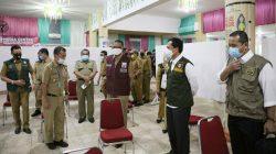 Pesan Khusus Gubernur Nurdin Usai Temui Prof Rudy di Posko Covid-19 Makassar