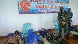 HUT Ke-75 TNI, Dandim Bone Gelar Donor Darah