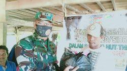 "HUT ke-75 TNI, Kodim 1420 Sidrap Bagi-bagi ""Paket Cinta"" di Lokasi TMMD"
