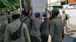 Satpol PP Bone Bongkar Paksa Lapak di Jalan Sukawati