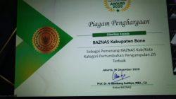 Kado Akhir Tahun, Baznas Bone Sabet Penghargaan Nasional