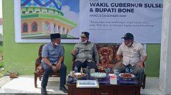 Usai Cek Pembangunan Jembatan,  Wagub Sudirman Peletakan Batu Pertama Masjid Al Hijrah