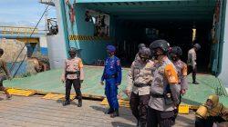 Akhir Pekan, Brimob Siaga di Pelabuhan Bajoe Bone