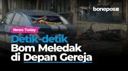 Video: Detik-detik Bom Meledak di Depan Gereja Katedral Makassar