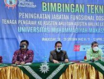 Plt Harian Rektor Unismuh Menanti Hasil Luaran Bimtek Peningkatan Jafung