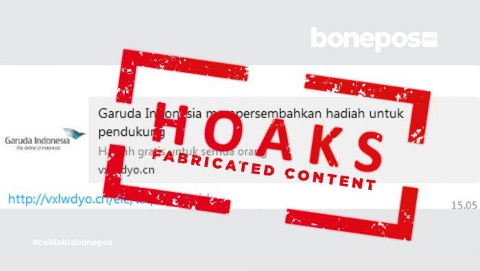[CEK FAKTA] Soal Undian Berhadiah Garuda Indonesia, Begini Faktanya