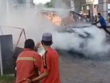 Mobil Terbakar di SPBU Wajo, Ini Dugaan Penyebabnya