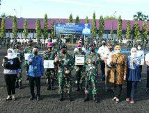 Danlantamal VI dan Bank Mandiri Makassar Bagi Paket Cinta Jelang Lebaran, Ini Penerimanya