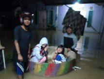 Sungai Satui dan Haruyan Meluap, Dua Kabupaten Diterjang Banjir