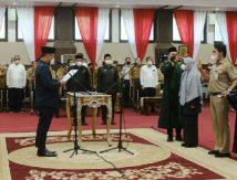 Plt Gubernur Sulsel Lantik 77 Pejabat, Berikut Daftar Posisinya