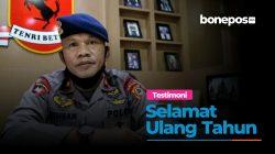 VIDEO: Harapan Danyon C Satbrimob Polda Sulsel di Ulang Tahun Bonepos.com