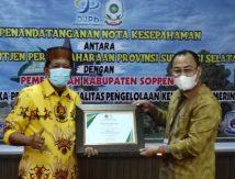 Kakanwil DJPb Sulsel Beri Ganjaran Bupati Soppeng