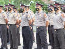 Kapolres Jeneponto Pimpin Upacara Kenaikan Pangkat Personel, Segini Jumlahnya