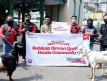 Bersama Komunitas Honda Beat, Astra Motor Salurkan Donasi Kurban