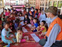 Baznas Bone Beri Trauma Healing ke Anak-anak Korban Banjir di Jeneponto