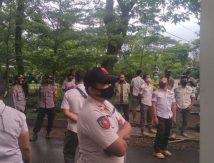 Antisipasi Pendemo, Puluhan Satpol PP Siaga di Pintu Gerbang Kantor Bupati Gowa