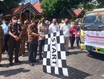 Launching Bantuan Beras PPKM, Bupati Basli: Jangan Percaya Hoaks terkait Vaksin, Aman!