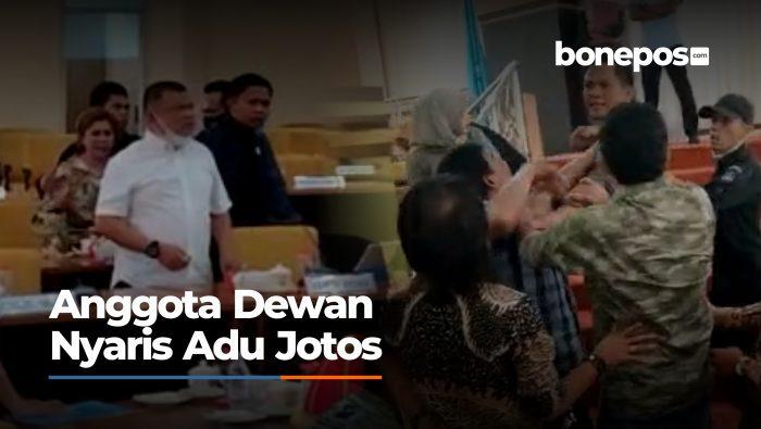 VIDEO: Kronologi Anggota DPRD Bone Nyaris Adu Jotos saat Rapat