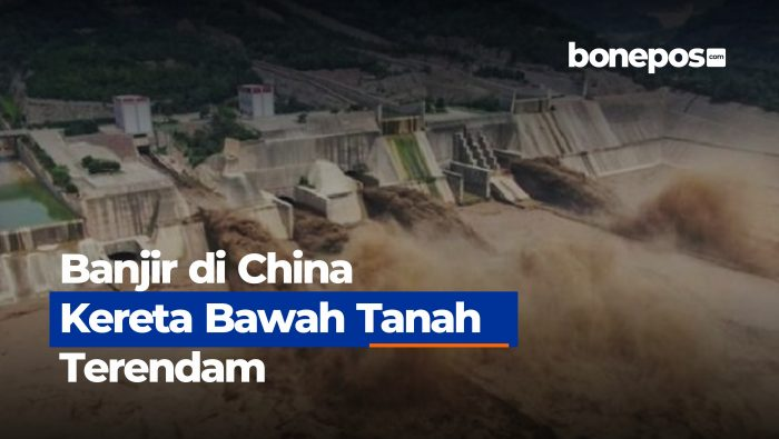 VIDEO: Banjir Dasyat di China, Kereta Bawah Tanah Terendam