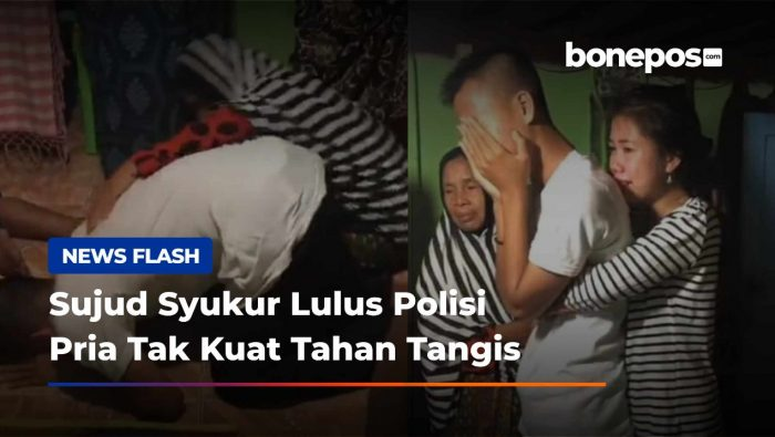 Tak Kuasa Tahan Tangis Usai Lulus Jadi Polisi, Pria Ini Viral di Tiktok