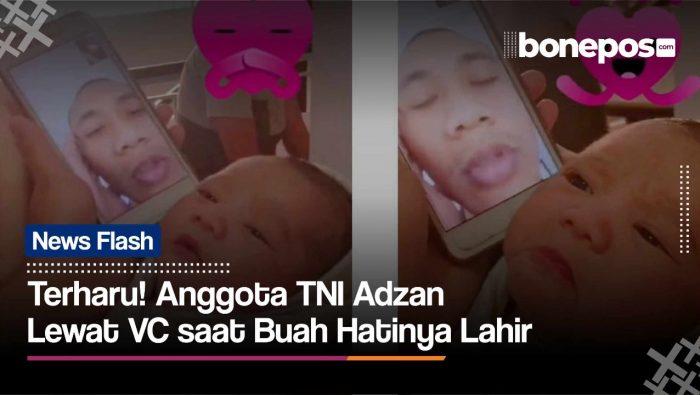 VIDEO: Anggota TNI Ini Kumandankan Adzan Buah Hatinya Lewat Video Call