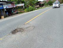 """Awas, Jalan Trans Sulawesi di Luwu Utara Banyak """"Ranjau"""""""
