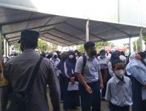 Pelajar Gowa Berbondong-bondong Ikut Vaksinasi di Balla Lompoa