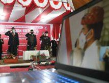 Bupati dan Wabup Selayar Upacara Virtual Bersama Jokowi