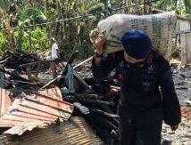 Misi Brimob Batalyon C Pelopor di Lokasi Kebakaran