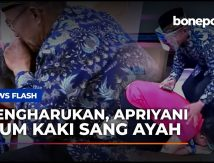 VIDEO: Moment Apriyani Cium Kaki Ayahnya Bikin Haru