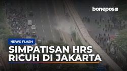 VIDEO: Ricuh, Simpatisan HRS Saat Datangi Pengadilan Tinggi Jakarta