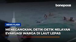 VIDEO: Menegangkan, Detik-detik Nelayan Evakuasi Warga di Laut Lepas