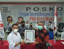 Sukses Vaksin Dhuafa dan Disabiltas, PMI Makassar Ganjar Kalla Penghargaan