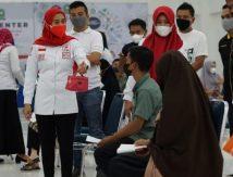 HUT ke-76, PMI Sinjai Gandeng KNPI Gelar Vaksinasi Massal