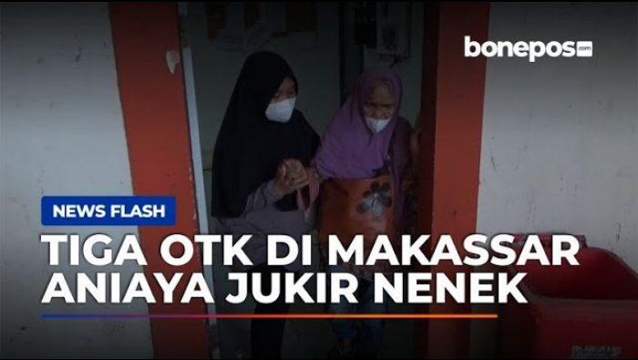 VIDEO: Nenek di Makassar Dianiaya Tiga OTK