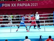 Adu Cerdik Petinju Sulsel dan Petinju Riau di Semifinal PON XX Papua