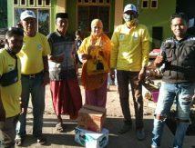Andi Rio Prihatin, Kirim Paket Cinta untuk Korban Angin Puting Beliung di Sibulue